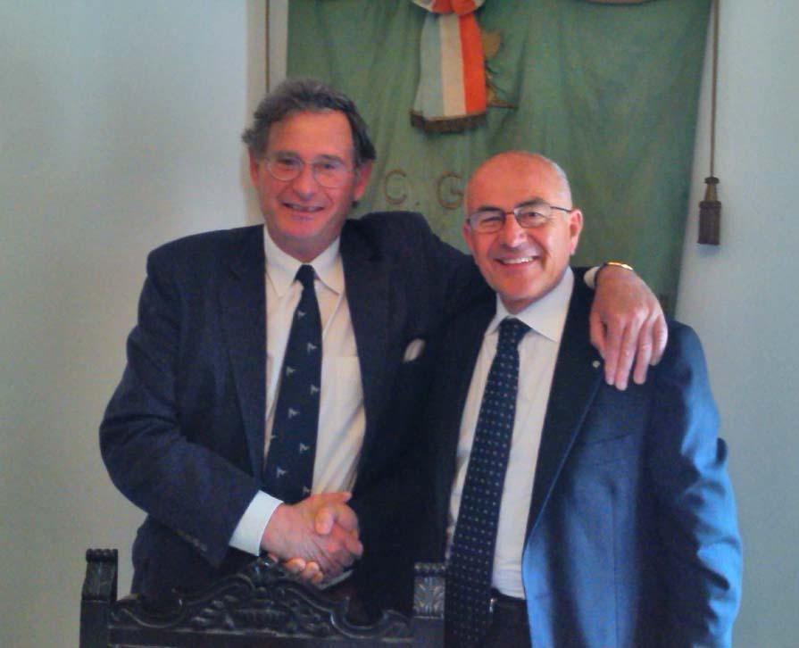 Il neo Presidente Ettore Pottino con il past-president Francesco Natoli
